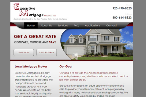 New Website for Executive Mortgage